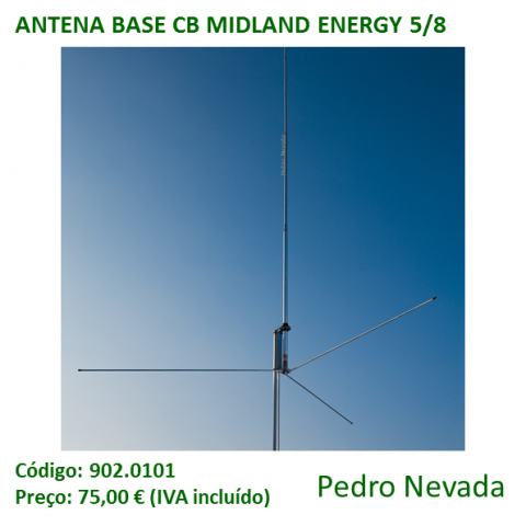ANTENA BASE CB MIDLAND ENERGY 5/8 - Pedro Nevada