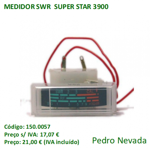 MEDIDOR SWR  SUPER STAR 3900 - Pedro Nevada