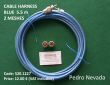 CABLE HARNESS BLUE  5.5 m  2 MESHES - Pedro Nevada