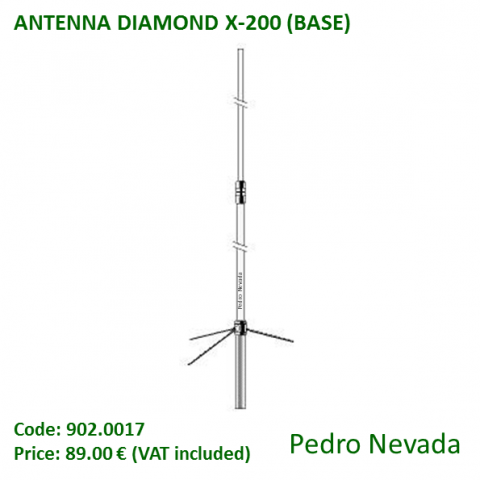 ANTENNA DIAMOND X-200 (BASE) - Pedro Nevada