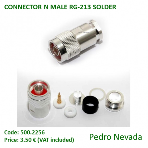 CONNECTOR N MALE RG-213 SOLDER - Pedro Nevada